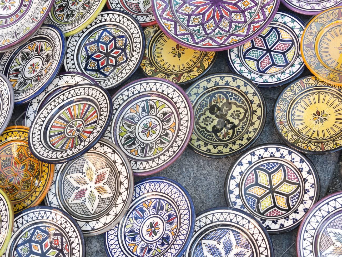 Ceramica marocchina u tovaglioli di carta