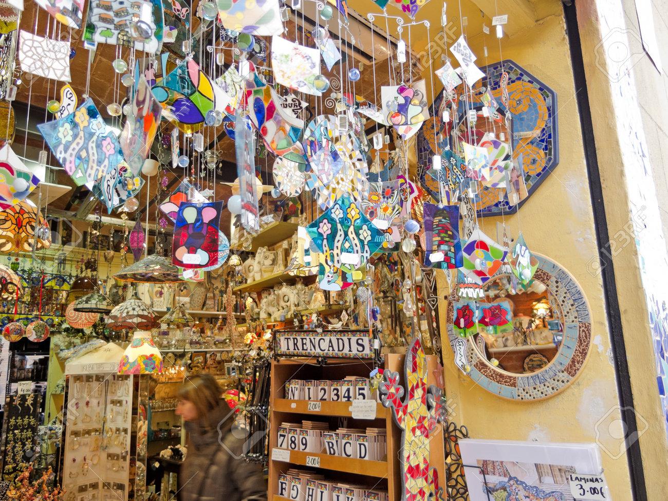 6df3e48a97817 Photo barcelona dec souvenir shop inspired gaudi and dali on december in  barcelona spain bar jpg