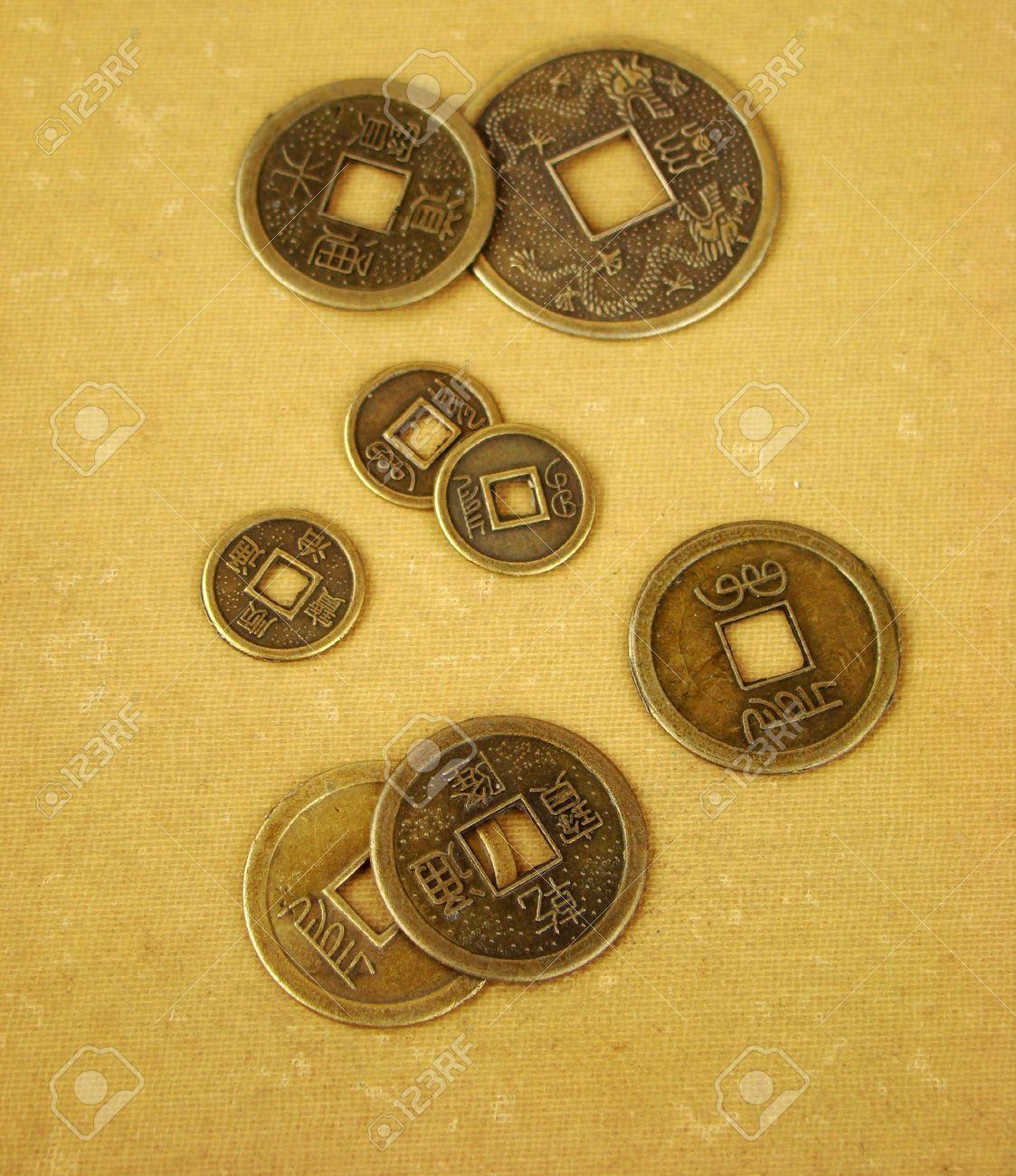 Chinesische Feng Shui Münzen Für Glück Und Erfolg In Den Alten Und