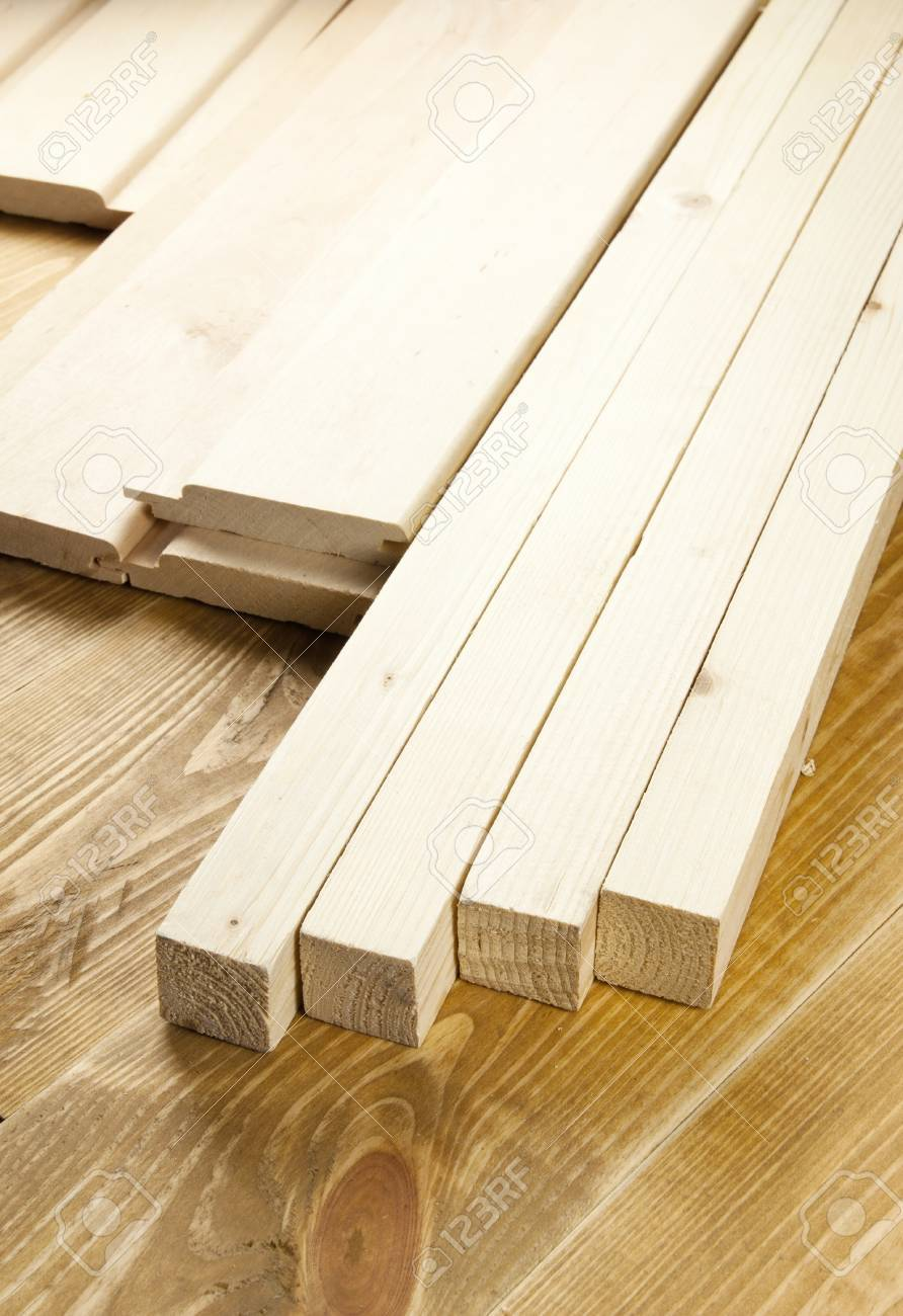 Wood planks are on a wooden board Stock Photo - 13183155