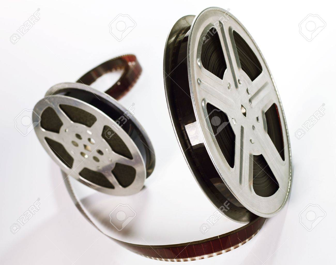 Old motion picture film reels Stock Photo - 13507525
