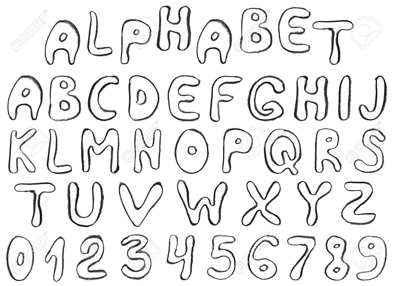 Hand Draw Alphabet Letters Stock Photo Picture And Royalty Free