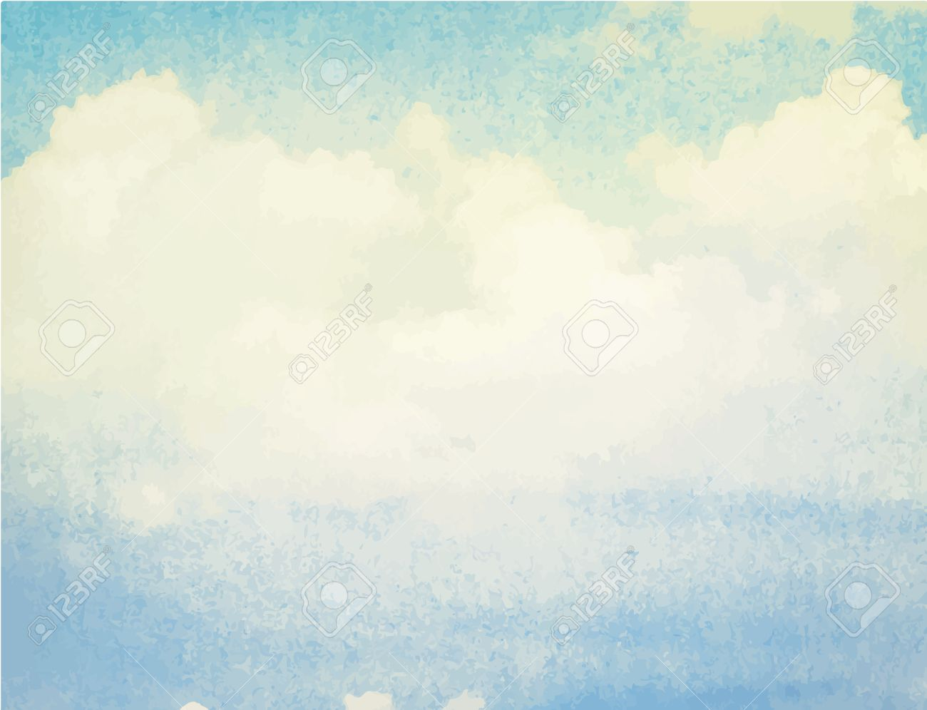 Bien connu Aquarelle Nuage Et Le Ciel Bleu Clip Art Libres De Droits  SZ08