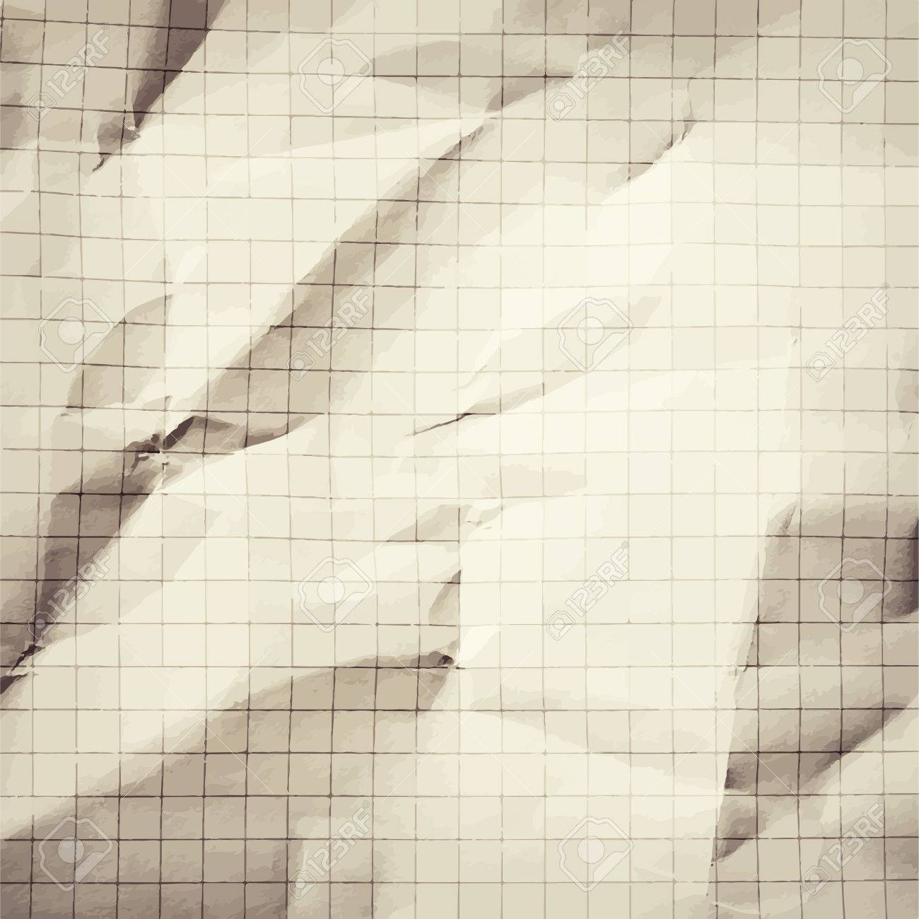 Crumpled Gray Blank Math, Grid Paper Background Royalty Free ...