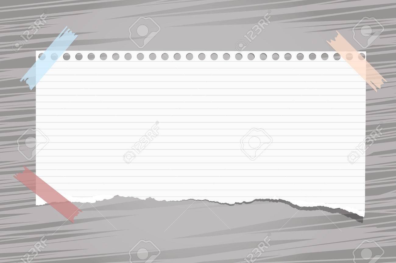 Preferenza Bianco Strappato Governato Nota, Quaderno, Copia Fogli Di Carta  GQ31