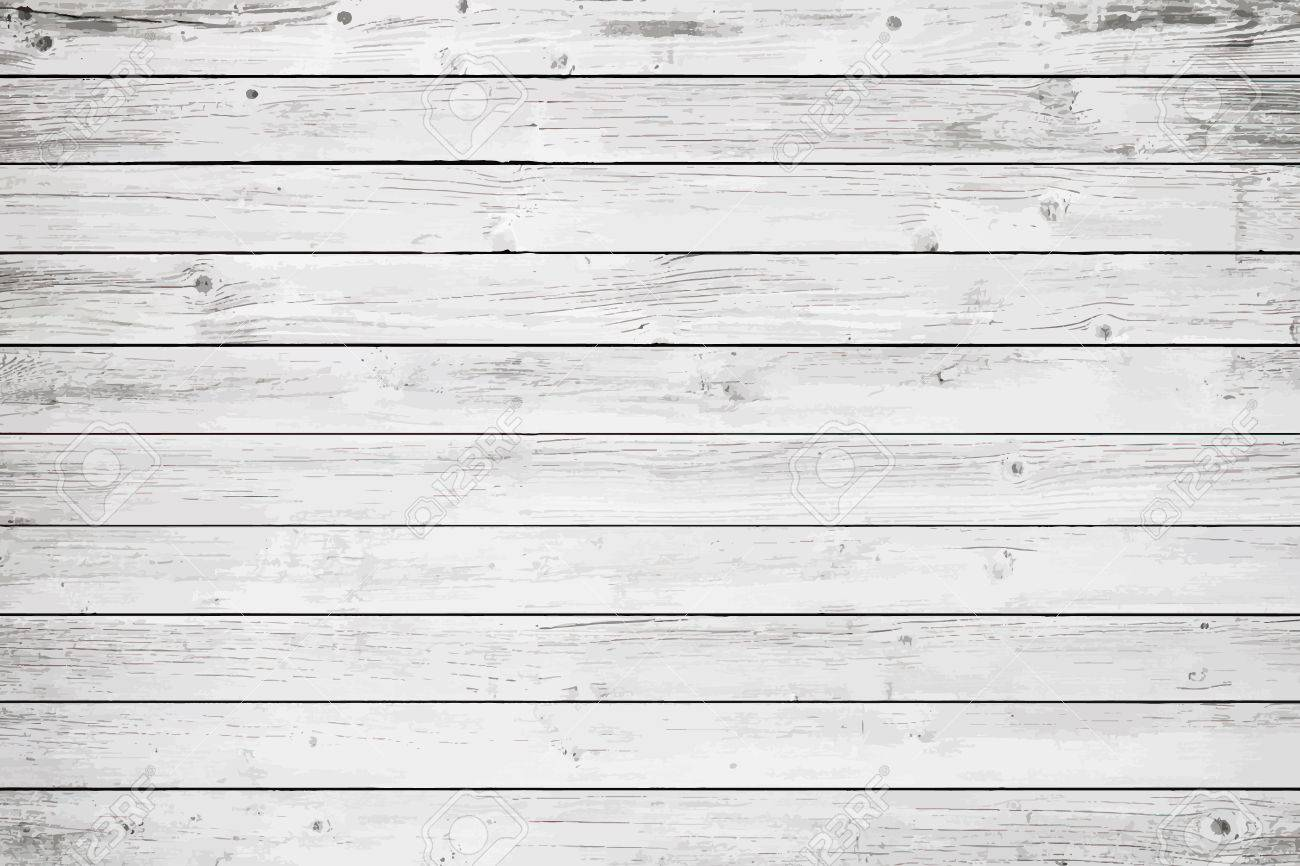 White wooden wall, table, floor surface. Light vector wood texture. - 77829903