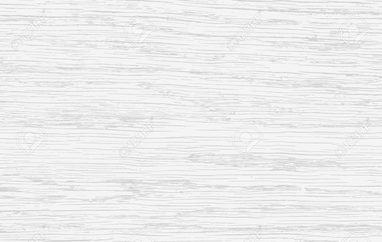 White wooden cutting, chopping board, table or floor surface. Wood texture. Vector illustration - 100376992
