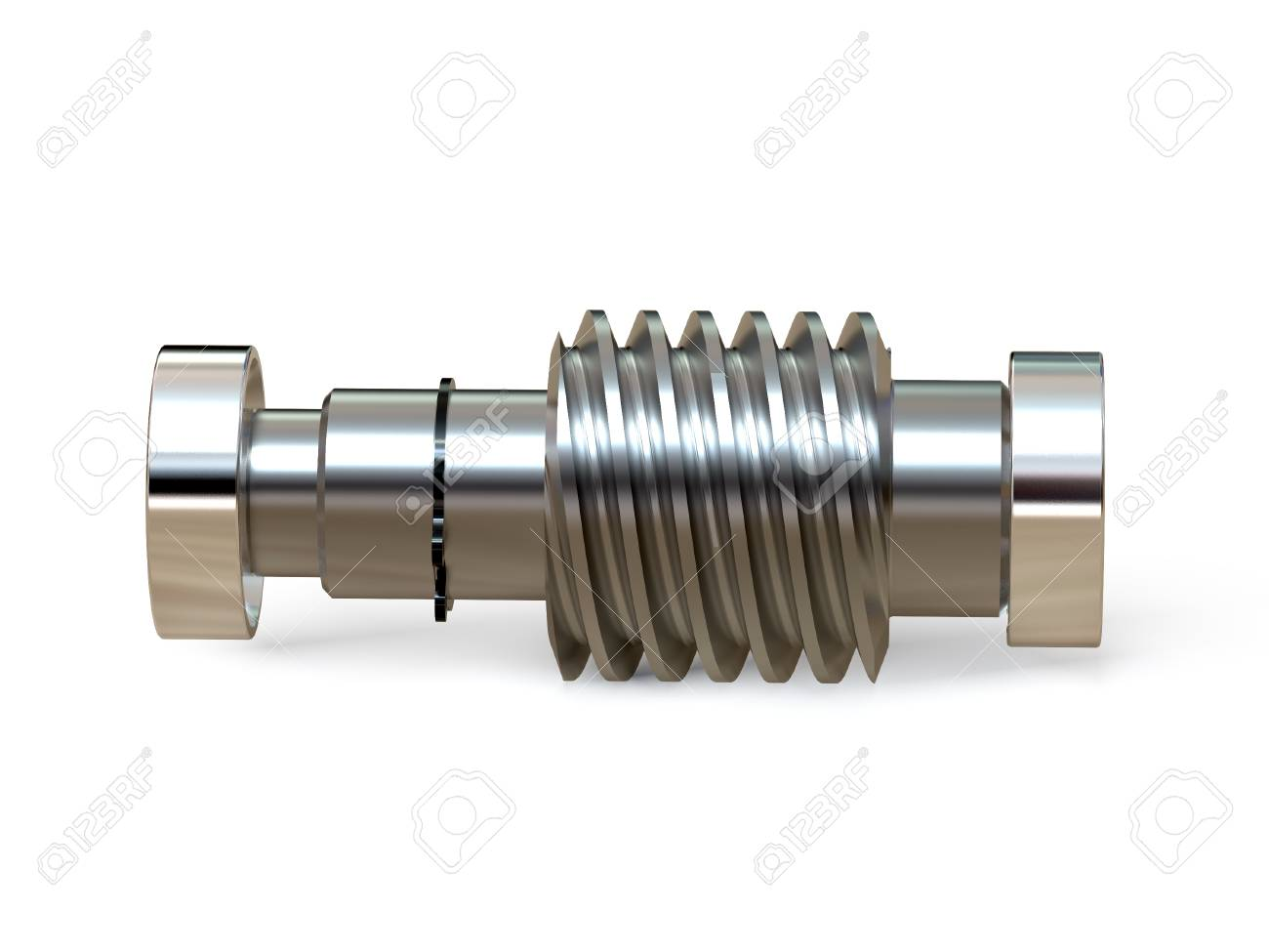 Worm shaft with bearings  Worm-gear  Mechanics for training