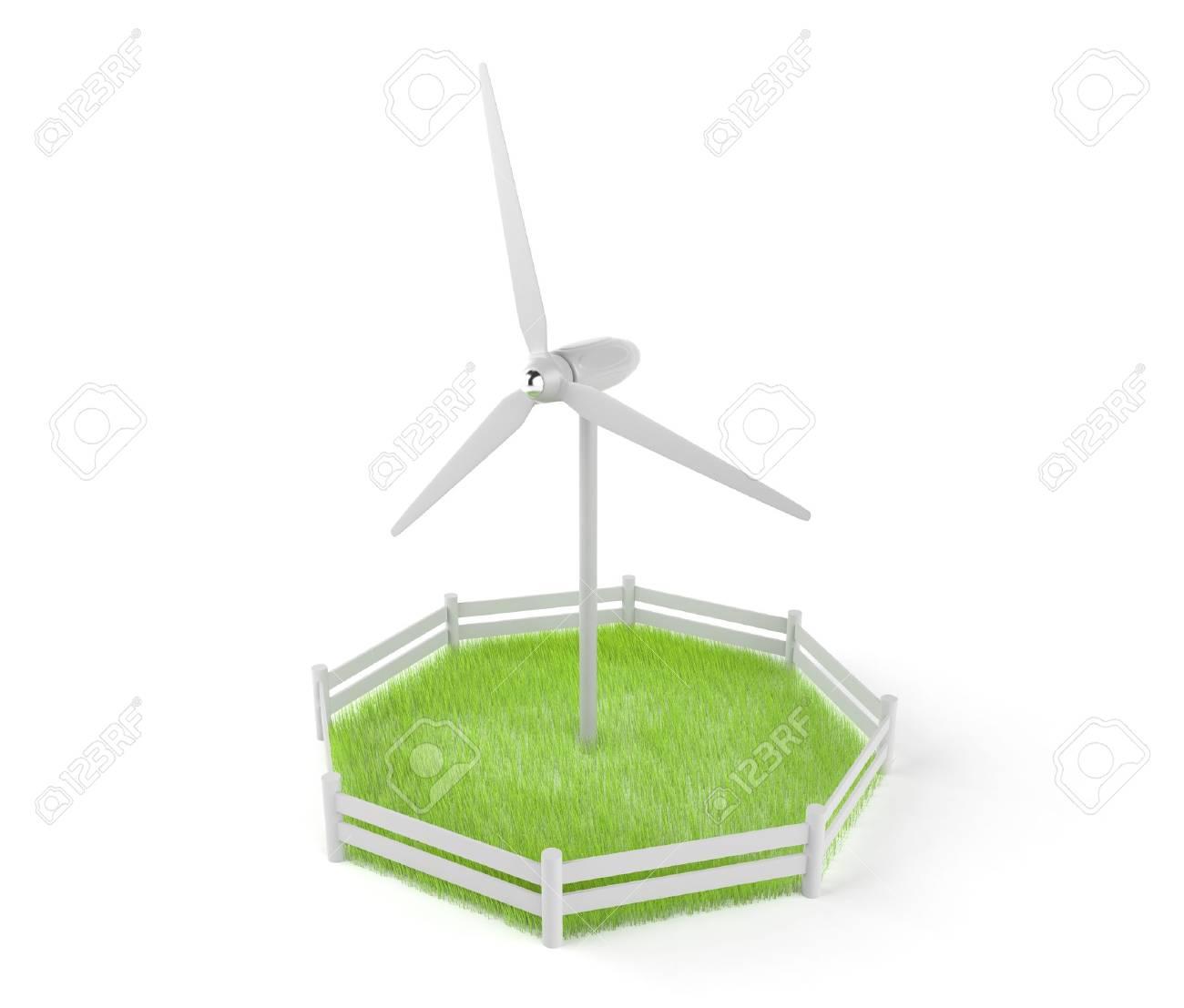 Wind Power. 3D illustration Stock Illustration - 12386676