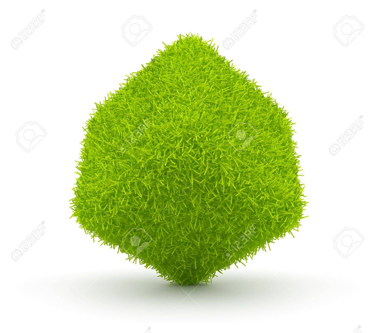 Abstract  green cube of grass 3D. Environment concept. Isolated on white background Stock Photo - 12780541