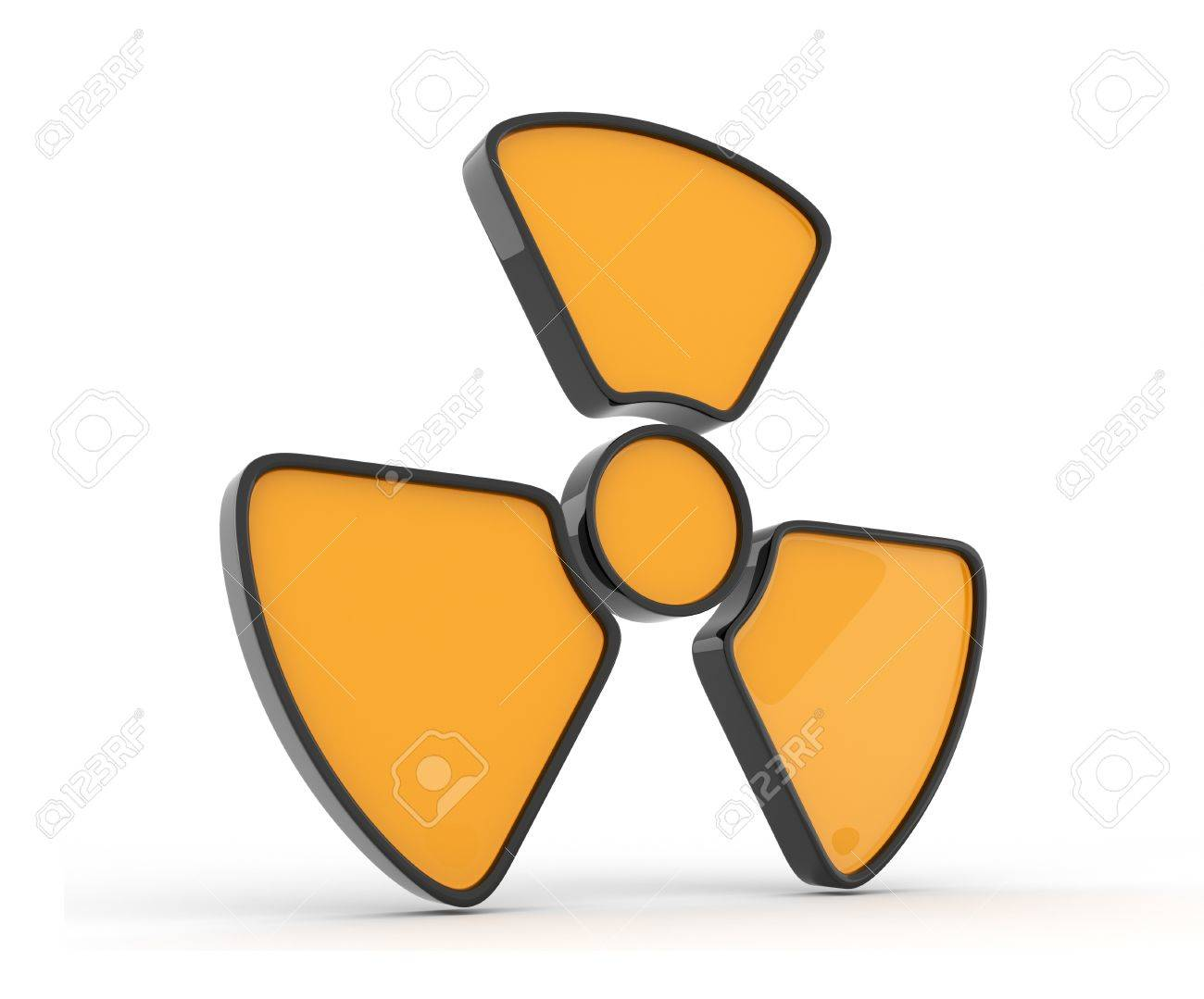 Sign of radiation  3d icon, isolated Stock Photo - 12780511