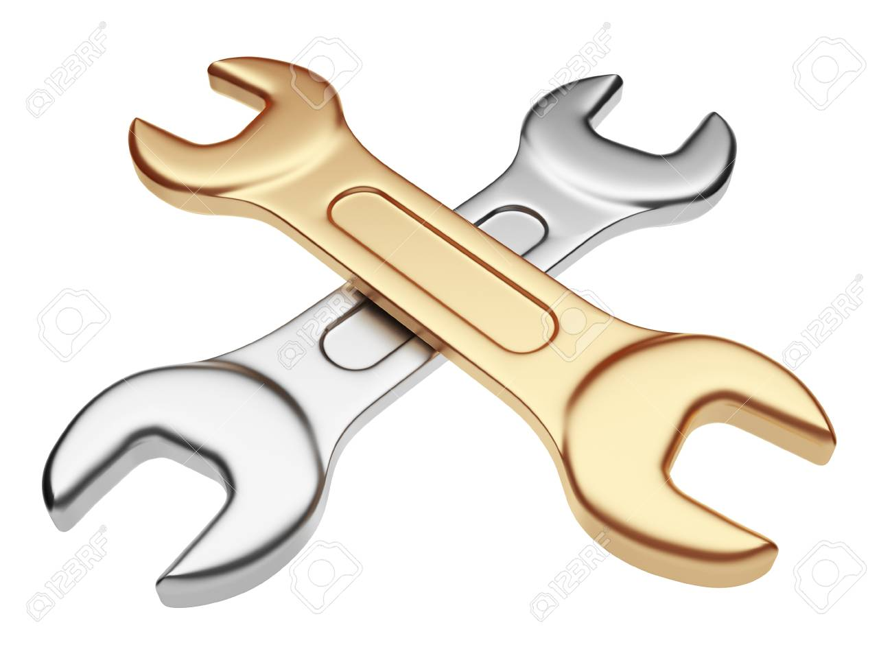 Wrench tool  3D illustration isolated Stock Photo - 12780514