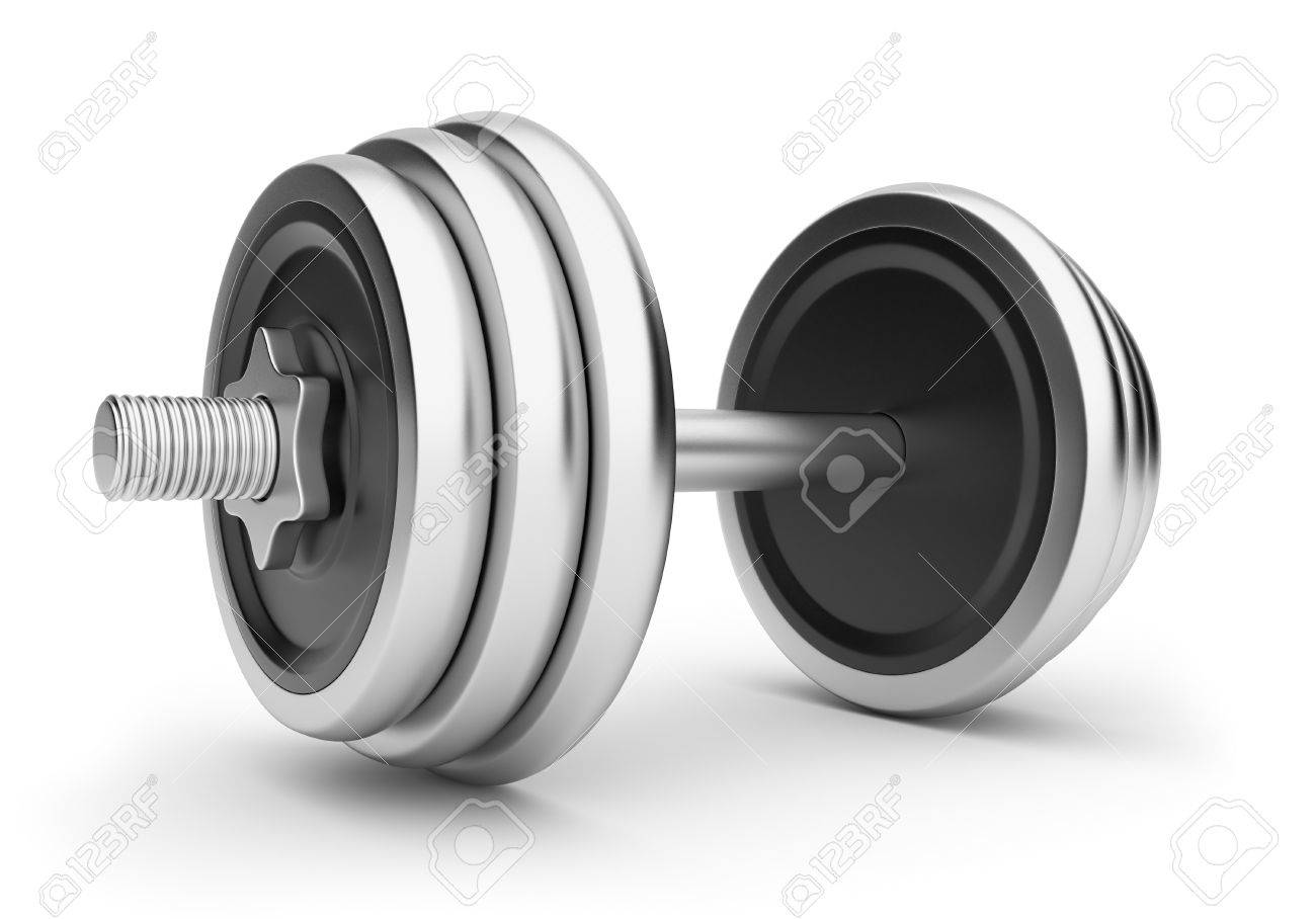 Dumbbell ,3D illustration. Isolated on white background Stock Illustration - 13078088