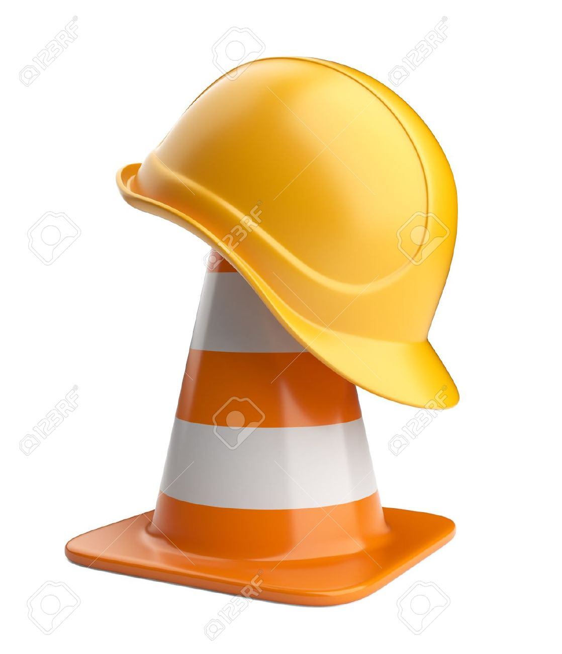 Traffic cones and hardhat Road sign Icon isolated on white background - 13168289