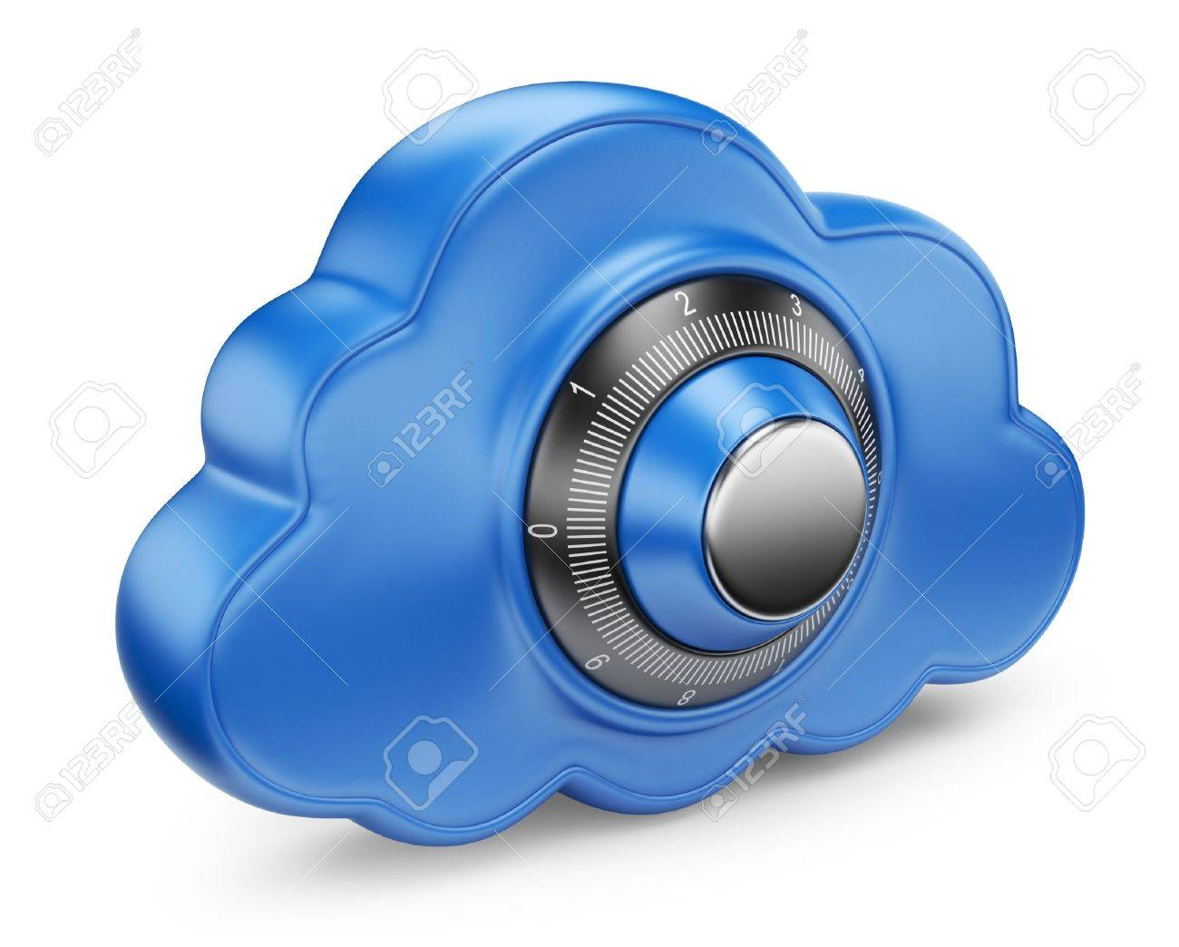 Cloud and lock Secure concept 3D Icon isolated - 14846797