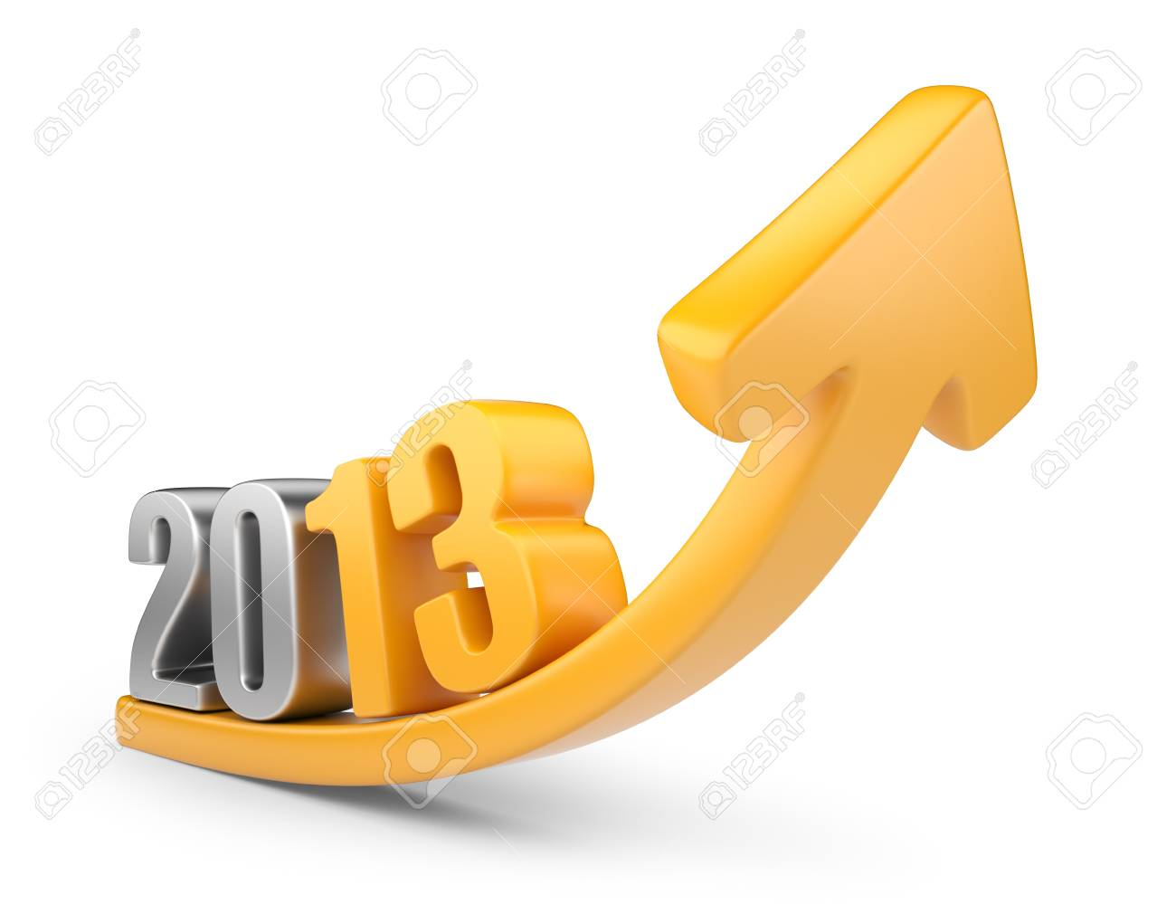 Successful new year 2013 3D calendar isolated on white - 16400315
