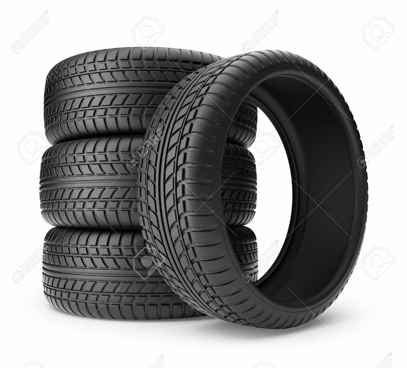 Rubber tire  Wheel 3D, Icon isolated on white background Stock Photo - 16400318