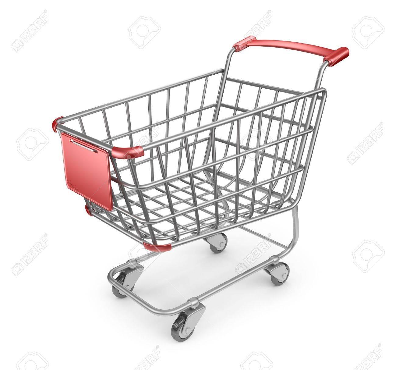 Market shopping cart 3D. Isolated on white background - 19054561