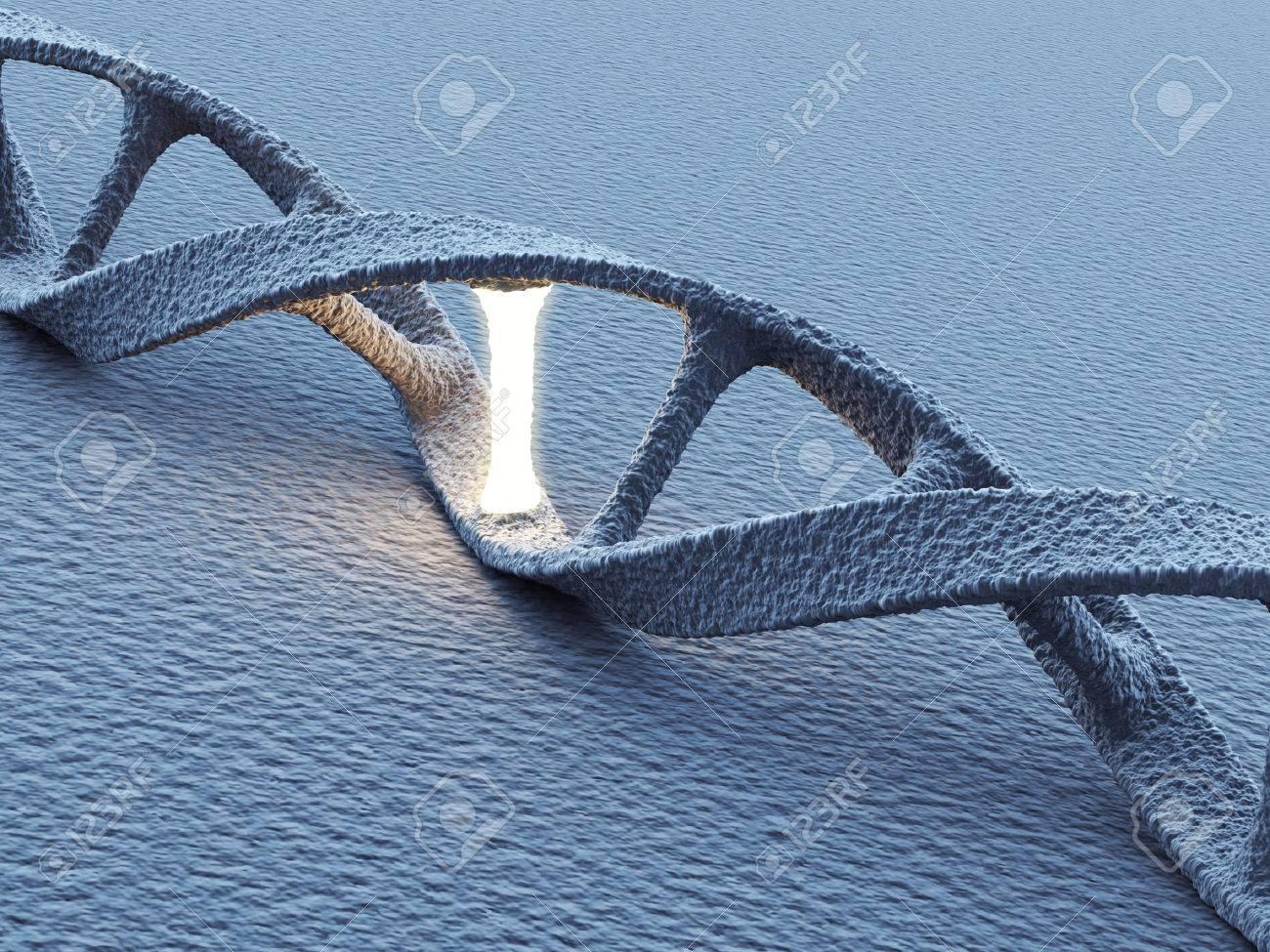 DNA helix molecules. Science concept. 3D Illustration - 24517667