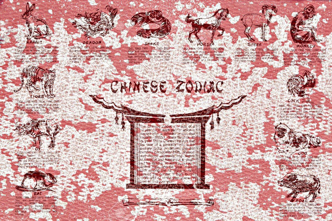 Chinese Zodiac Abstract Pattern