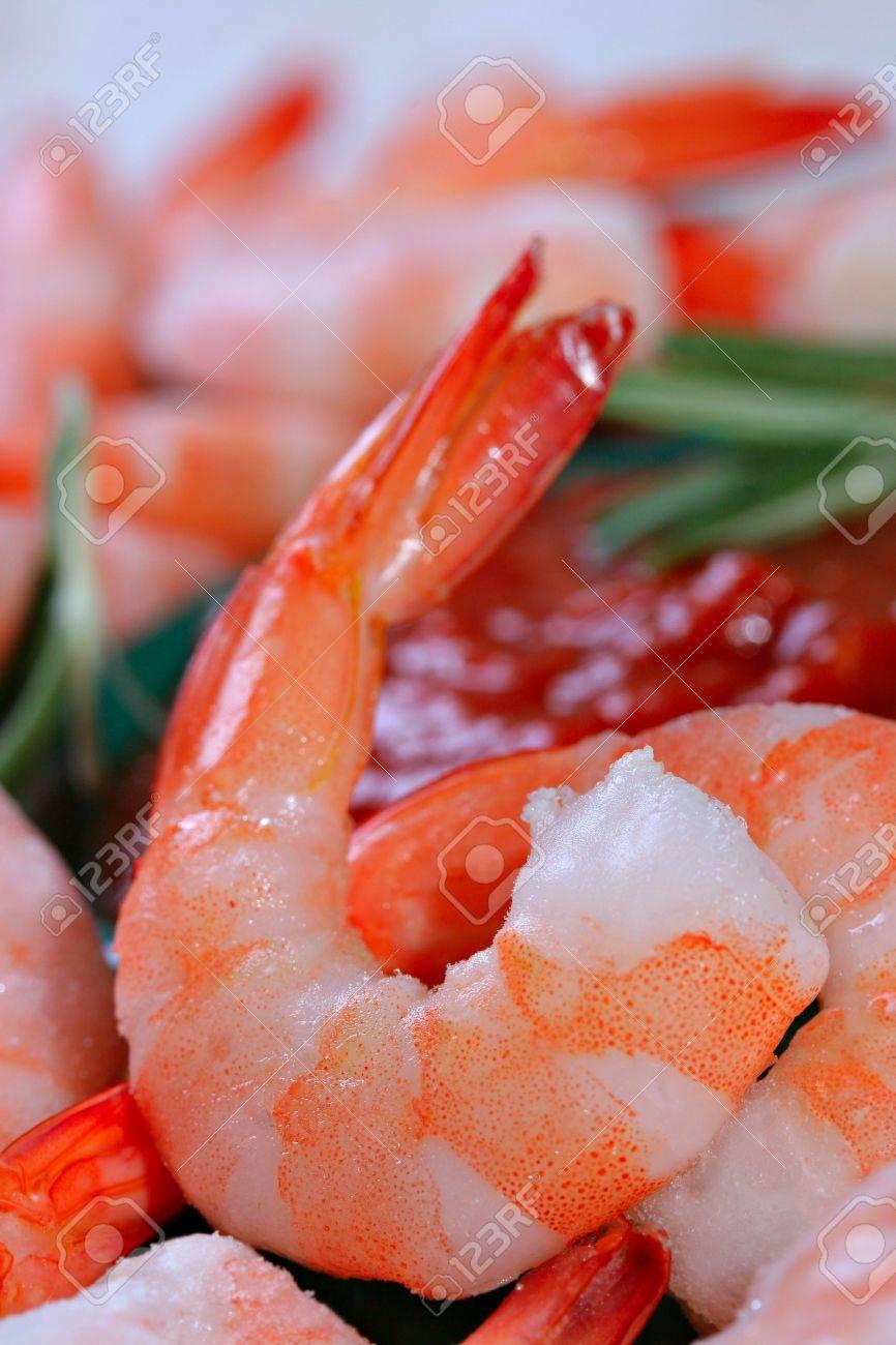 Jumbo Cocktail Shrimp Close-up Shallow DOF Stock Photo - 2240875