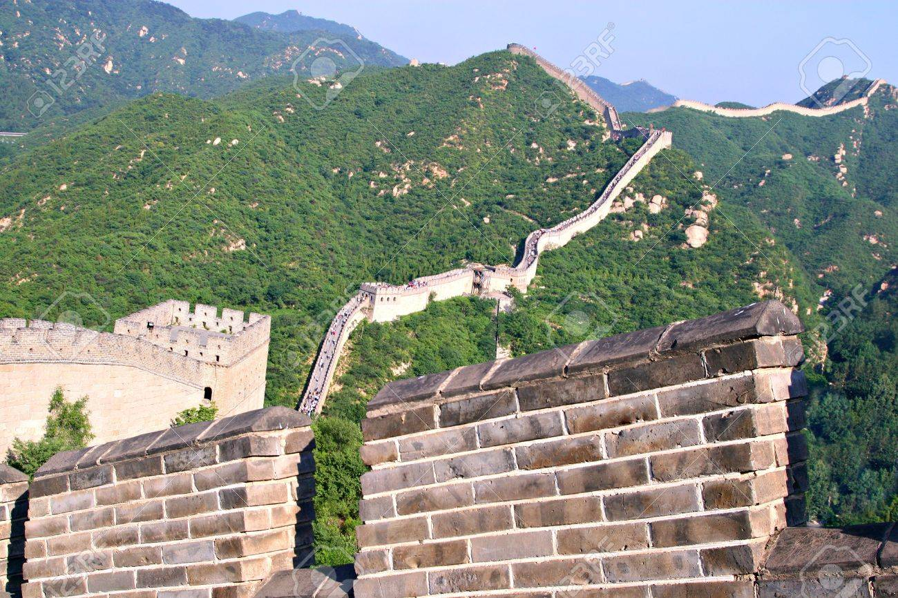 Tourist-spot at Great Wall of China in the Summer Stock Photo - 2649192