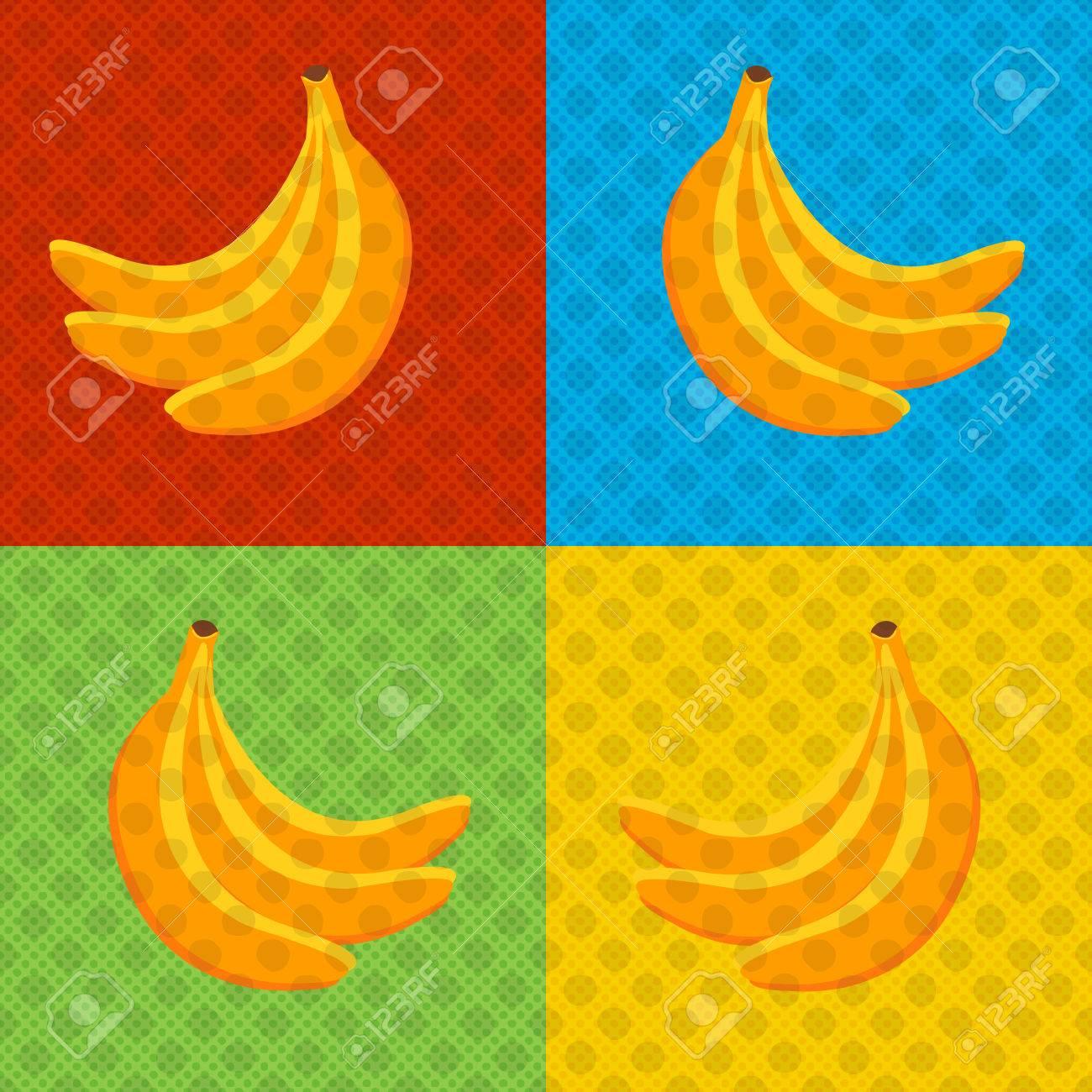 Poster design eps - Bananas Pop Art Style Poster Design For Poster Cover Brochure Vector Illustration Eps
