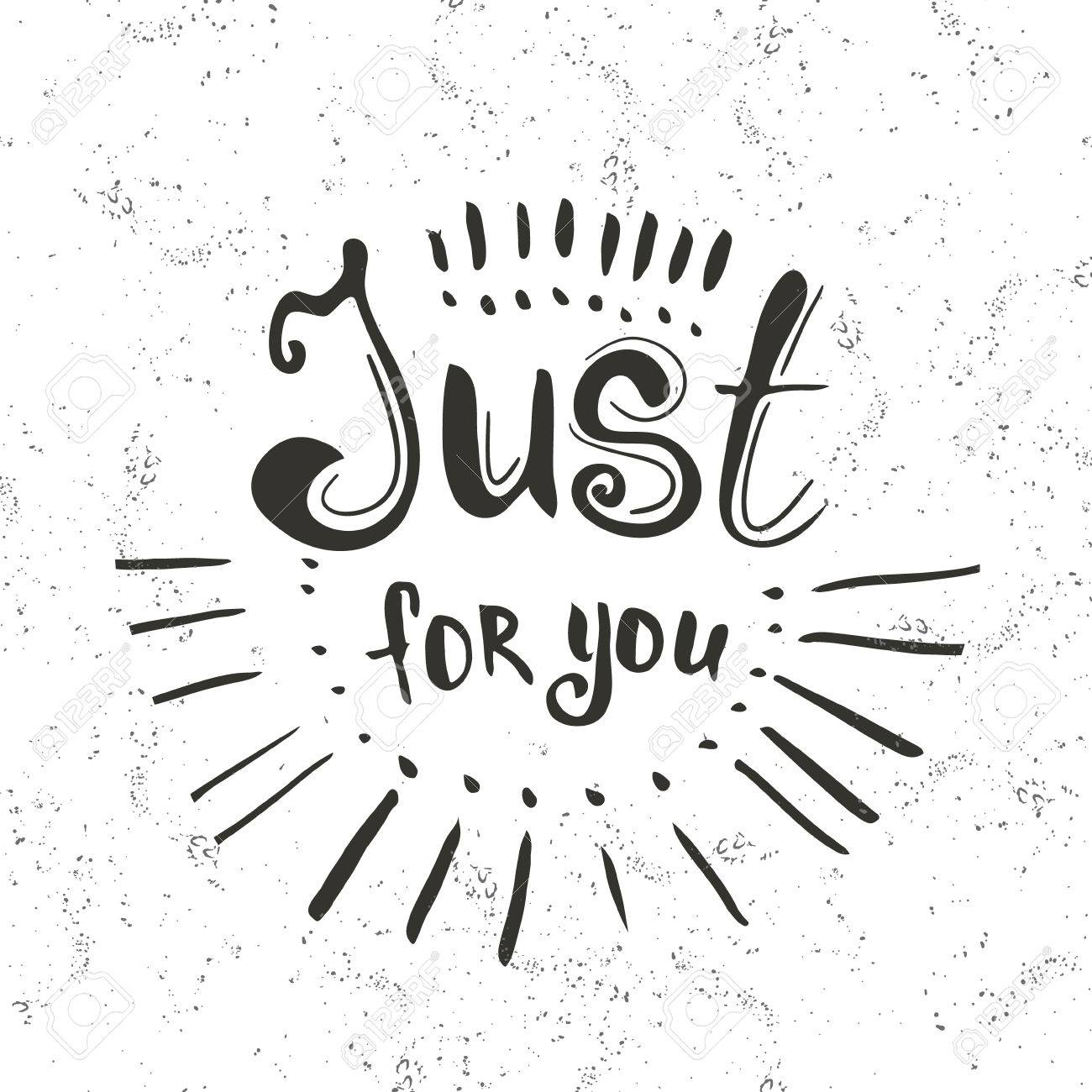 Just for you hand drawn lettering greeting typography vector just for you hand drawn lettering greeting typography vector typography design element for m4hsunfo Images