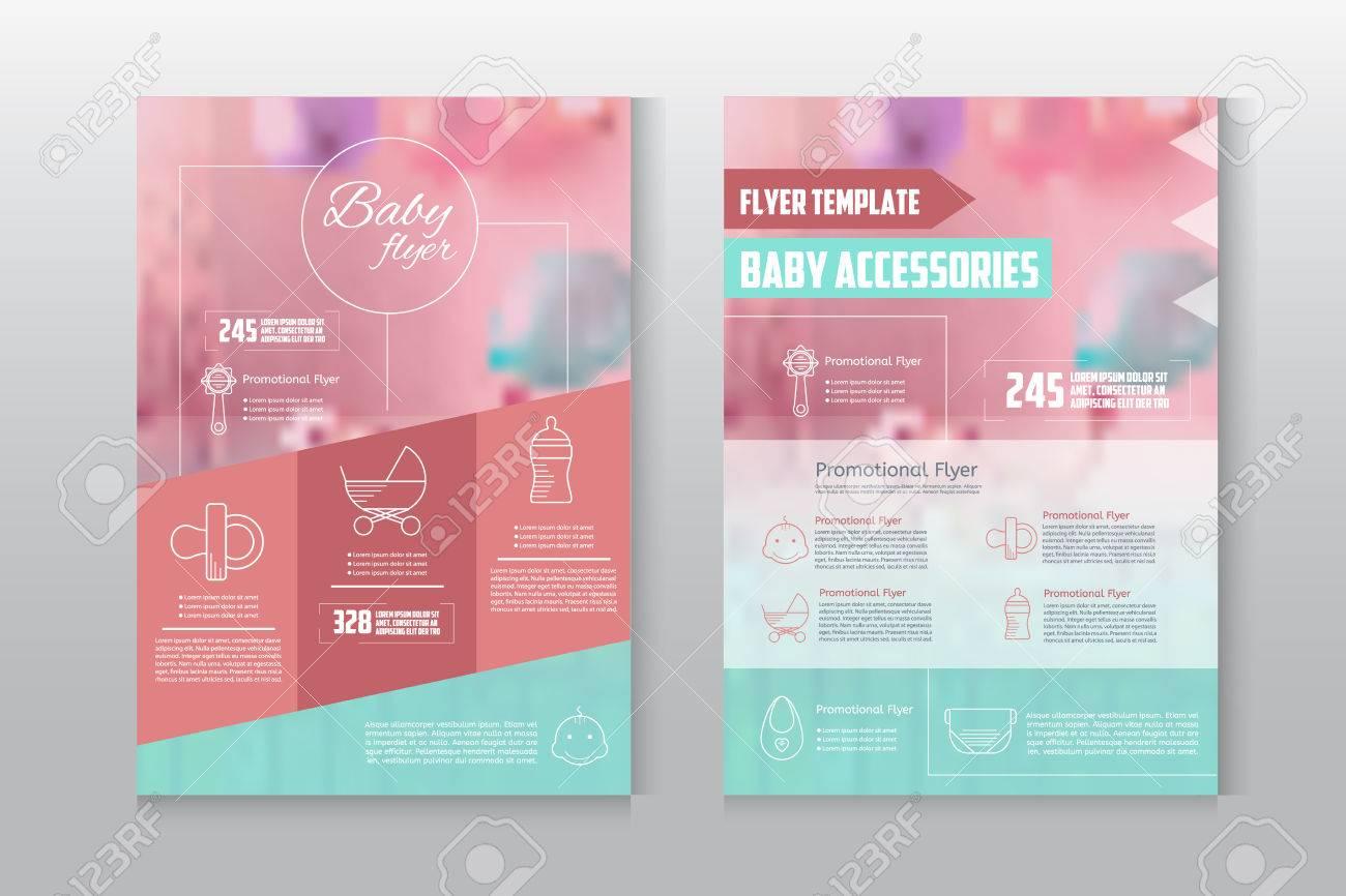 Baby Flyer Briefkopf Vorlage Business Broschüre Flyer Design Layout