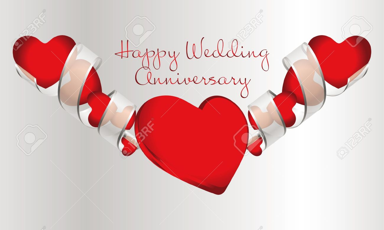 happy wedding anniversary royalty free cliparts vectors and stock