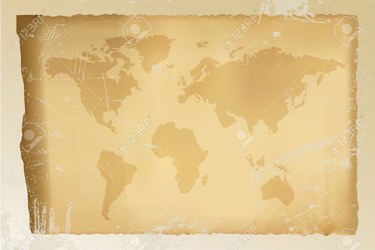 Old vintage world map on grungy background fully editable old vintage world map on grungy background fully editable vectors available stock vector gumiabroncs Images