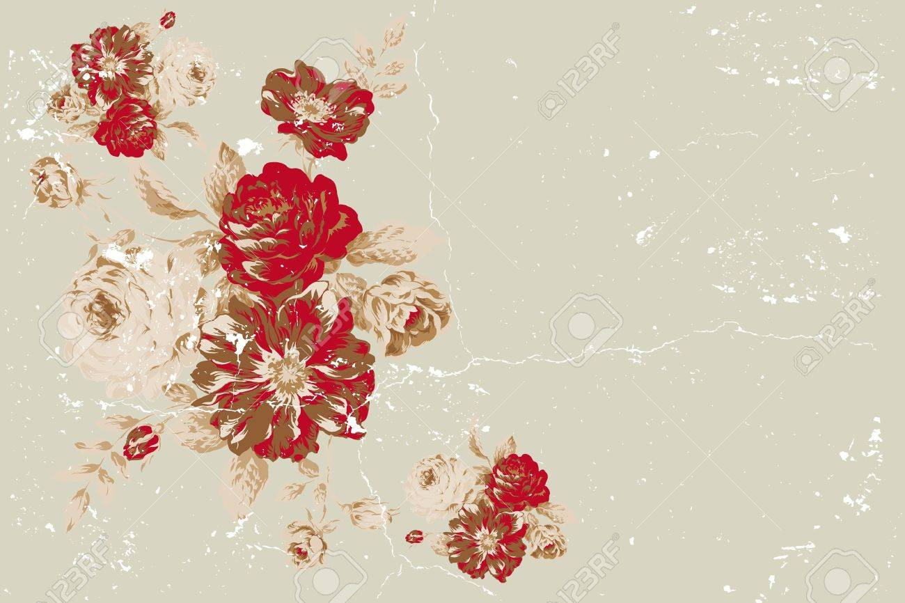 Vintage Rose Wallpaper Vector Vector Vintage Rose Collage