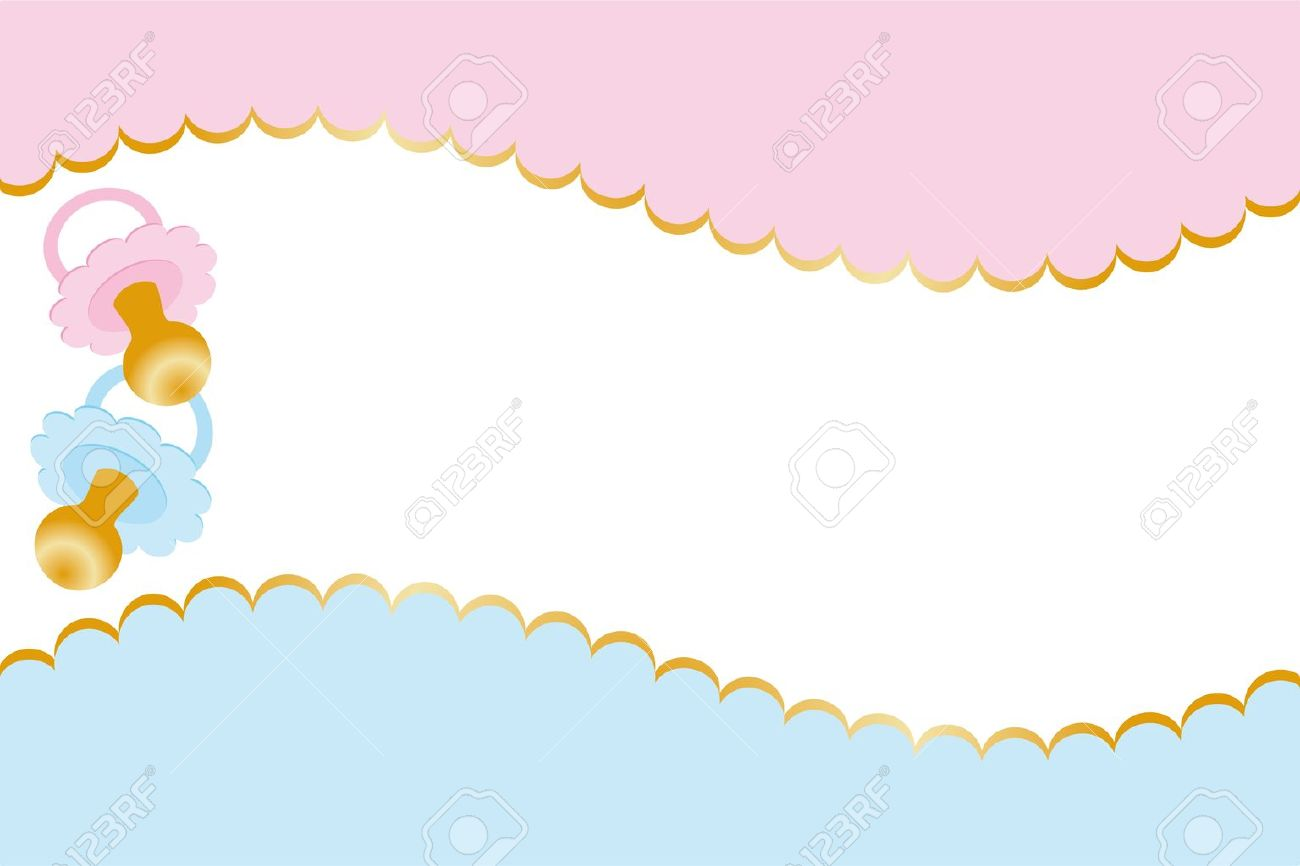 Unisex Baby Backgrounds Neutral baby welcome card