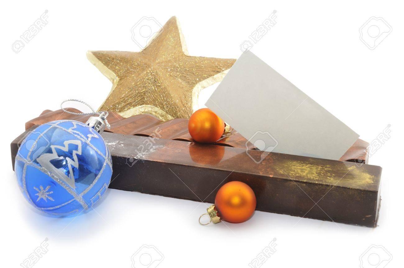Postres Para Una Feliz Navidad.Artesan Y Postres Tradicionales Espanoles Con Chocolate Y Adornos De Navidad Una Tarjeta Vacia Para Escribir Feliz Navidad O Algun Otro Texto