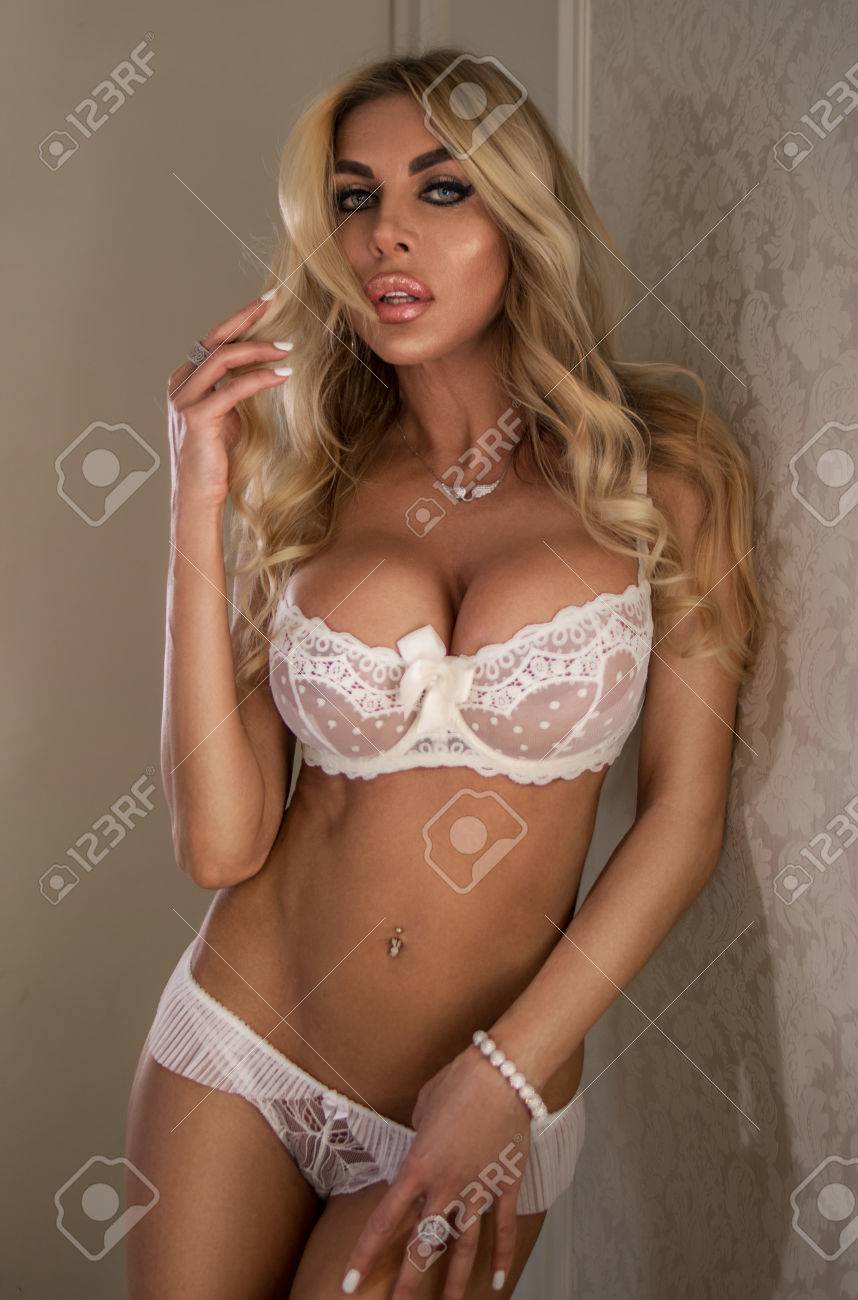 Hot Blonde Fucked Lingerie