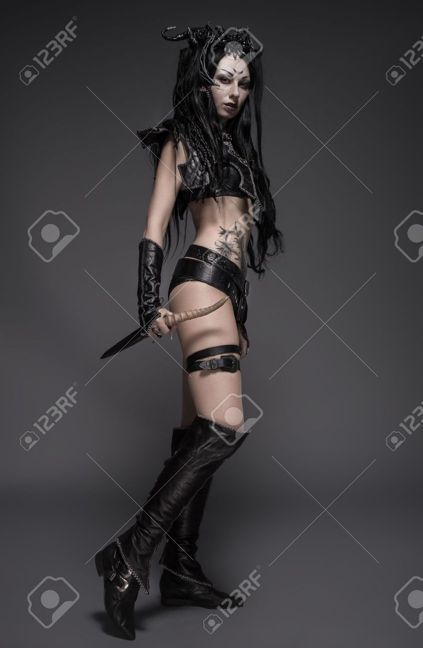 Woman Dark Elf Warrior Stock Photo Picture And Royalty Free Image