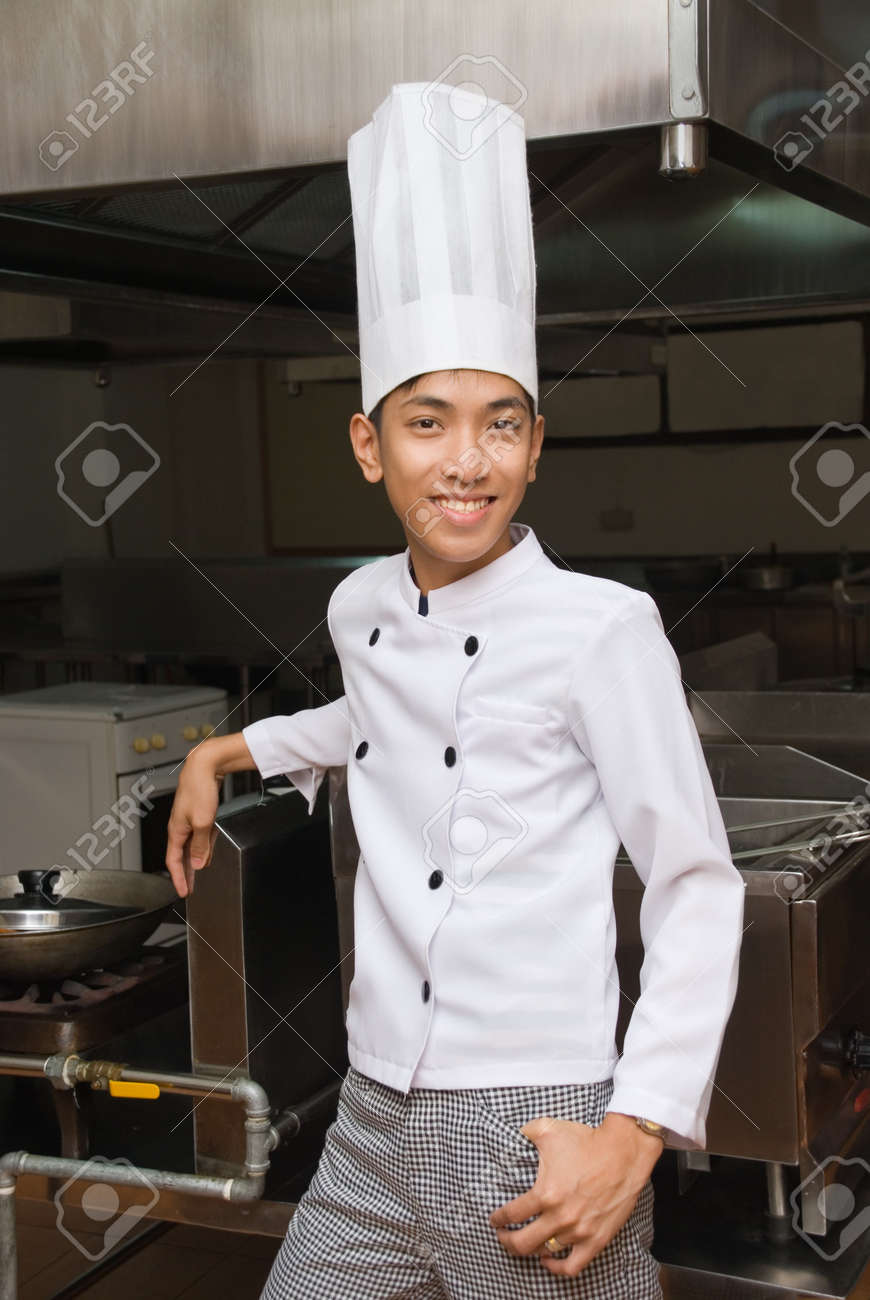 Restaurant Kitchen Manager restaurant kitchen manager smiling chinese oriental chef or cook