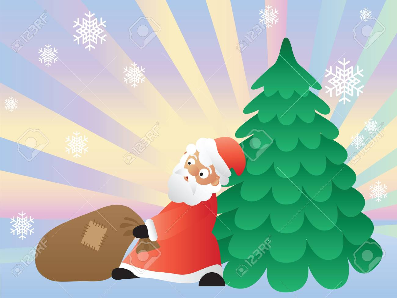 Christmas card with Santa Claus Stock Photo - 2027108