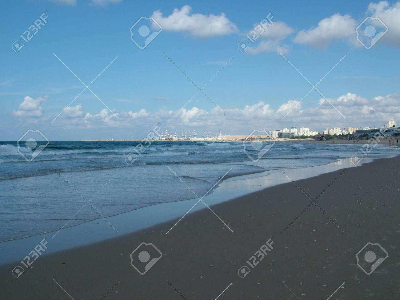 View of  Ashdod beach and port , Israel Stock Photo - 16581876