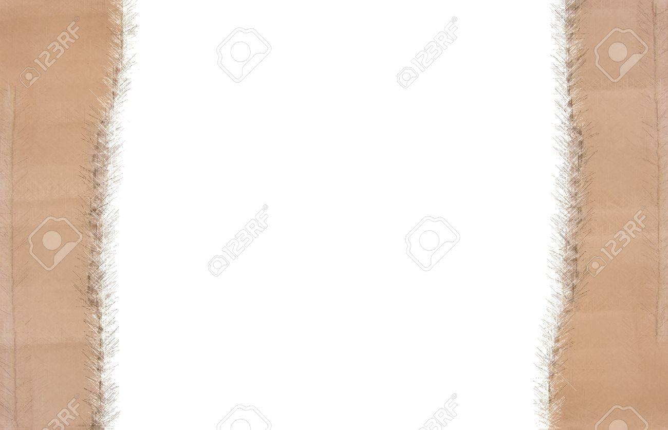 Weihnachten Rahmen Aus Pappe Auf Weißem Hintergrund Lizenzfreie ...