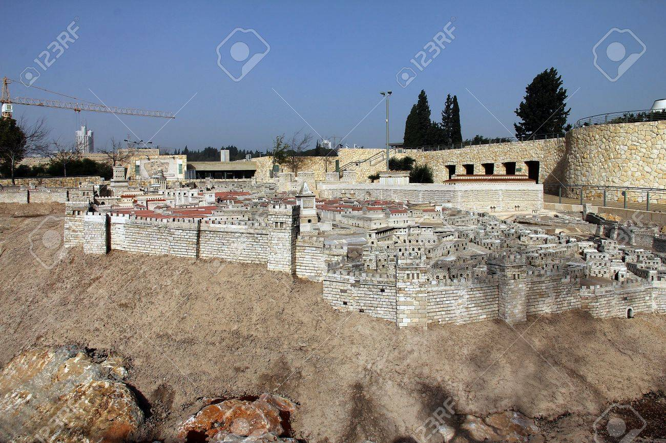 Model of the ancient Jerusalem  Israel Museum Stock Photo - 17164009