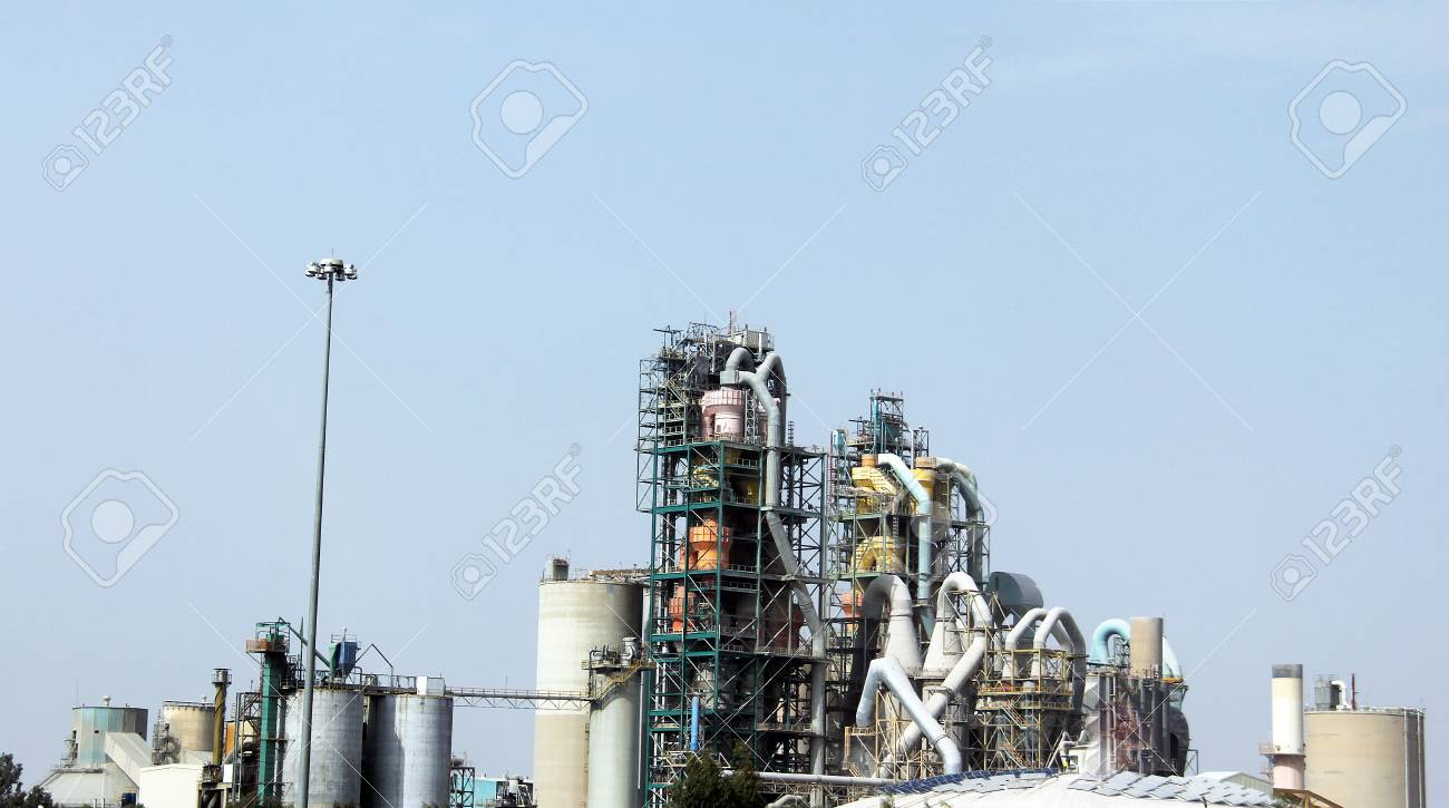 Concrete or cement factory Stock Photo - 23448838