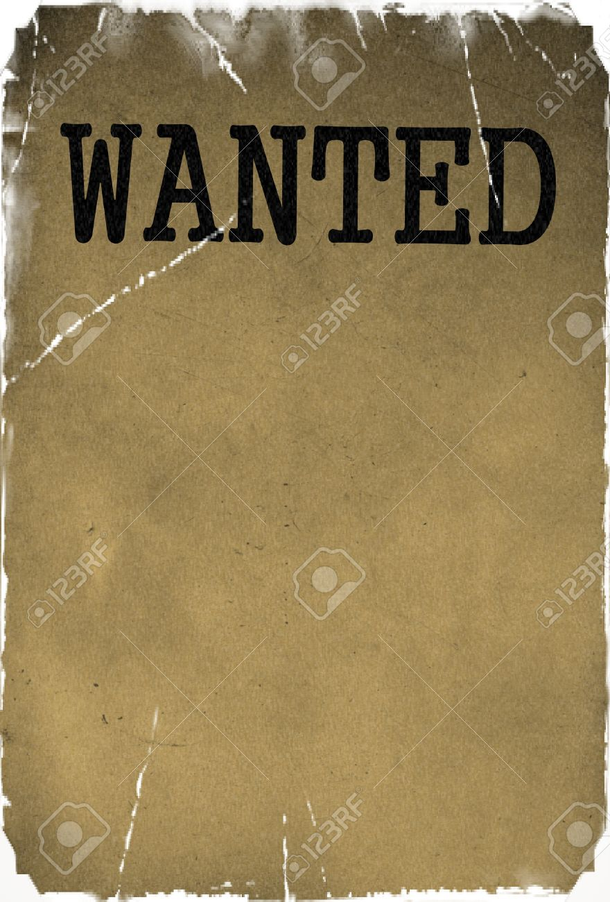 Wanted Template   Vintage Wanted Poster Template Background Stock Photo Picture And
