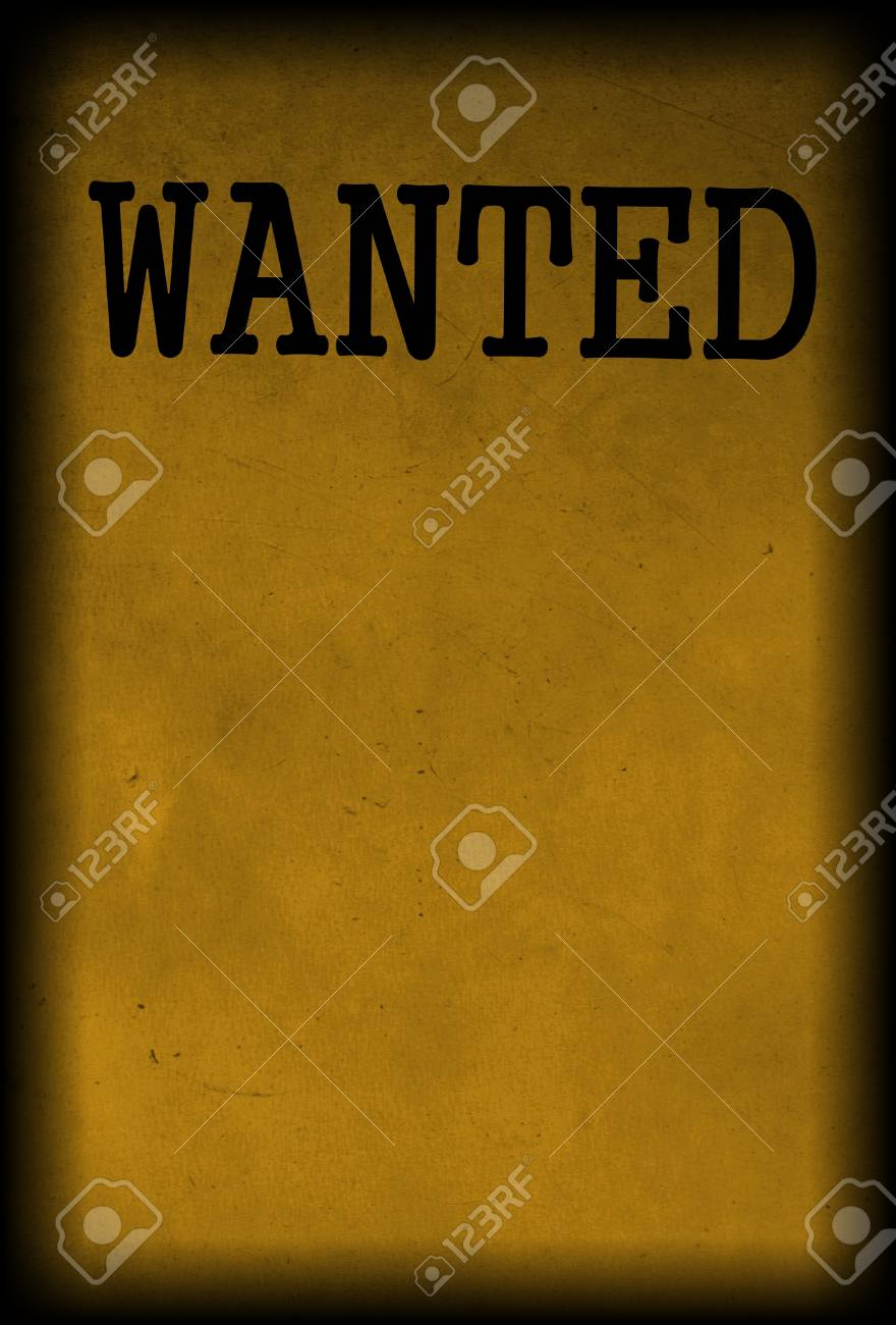 Vintage Wanted Poster Template Background Stock Photo Picture And
