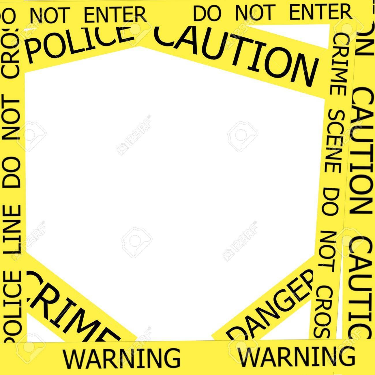 Advertencia, Precaución, Crimen, Señales De Policía Marco Sobre ...