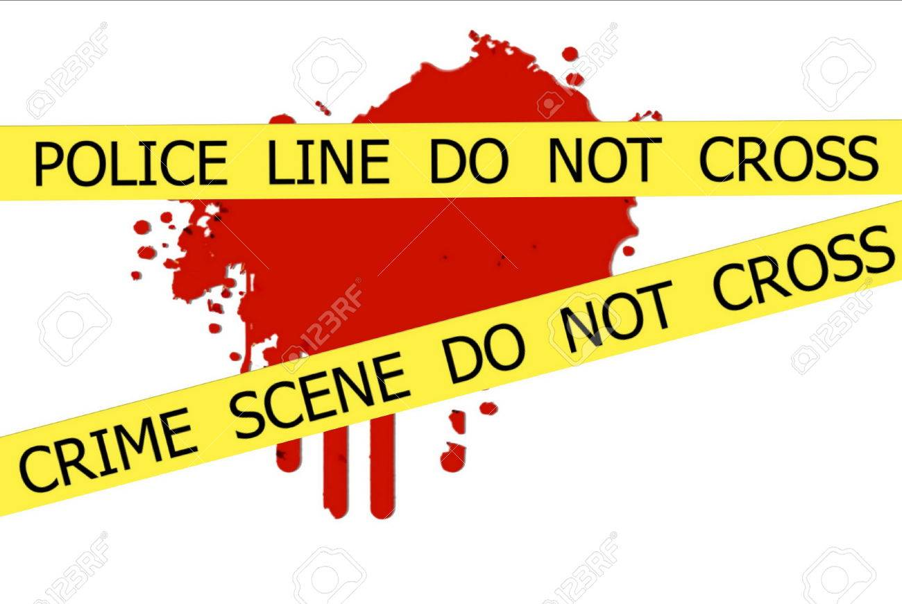 CRIME SCENE DO NOT CROSS Signe De L\'illustration De La Tache De ...