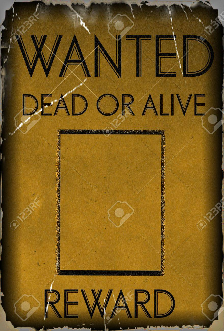 Vintage Wanted Poster Template Background Stock Photo   28094387