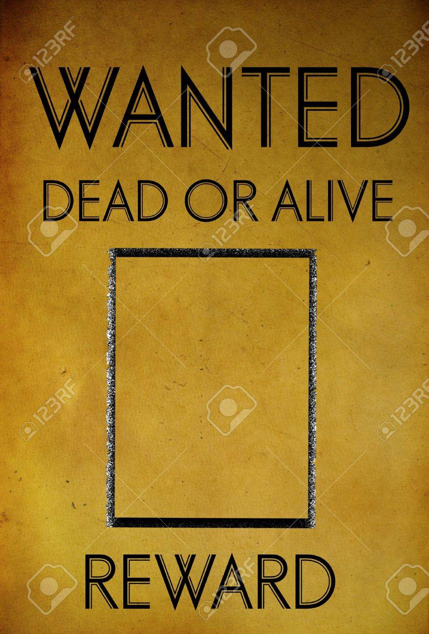 Vintage Wanted Poster Template Background Stock Photo   28094390