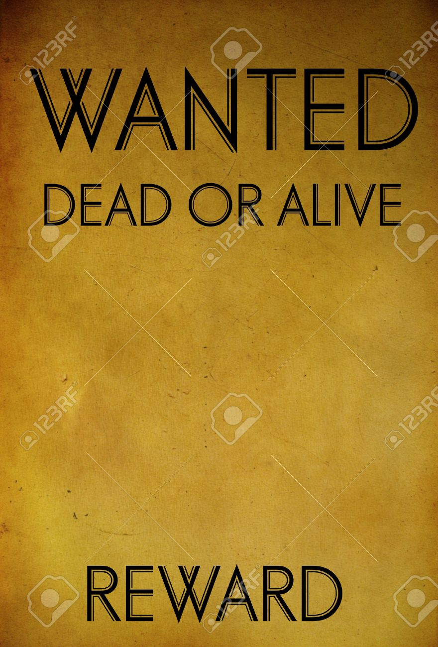 Vintage Wanted Poster Template Background Stock Photo, Picture And ...