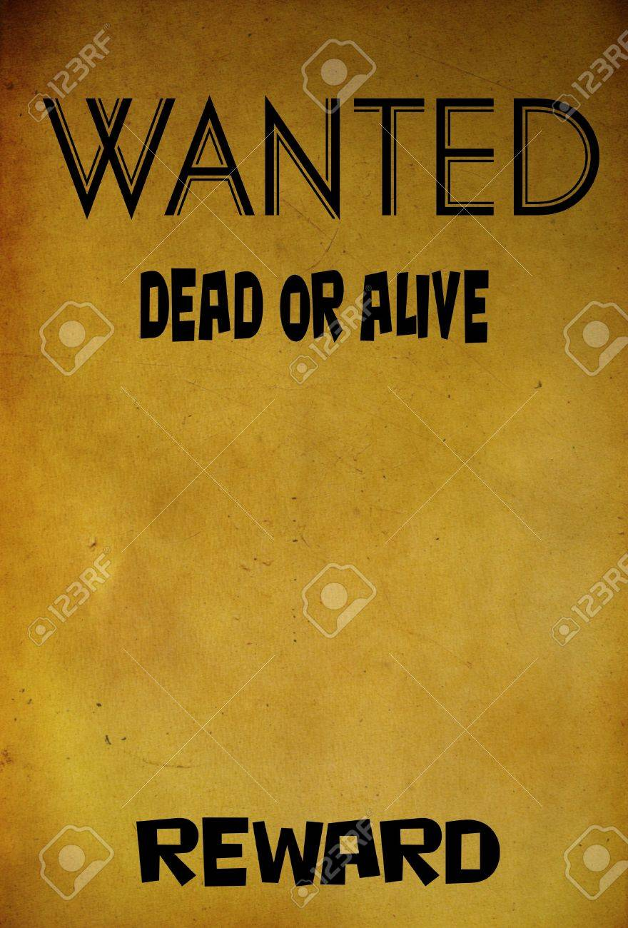 Vintage Wanted Poster Template Background Photo Picture And – Wanted Reward Poster Template